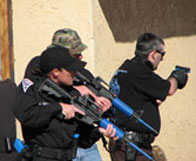 officers in border security training