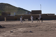 Afghan men playing ball