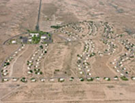 aerial shot of townsite
