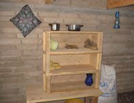 storage shelf in village room