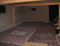 Prayer rugs in mosque